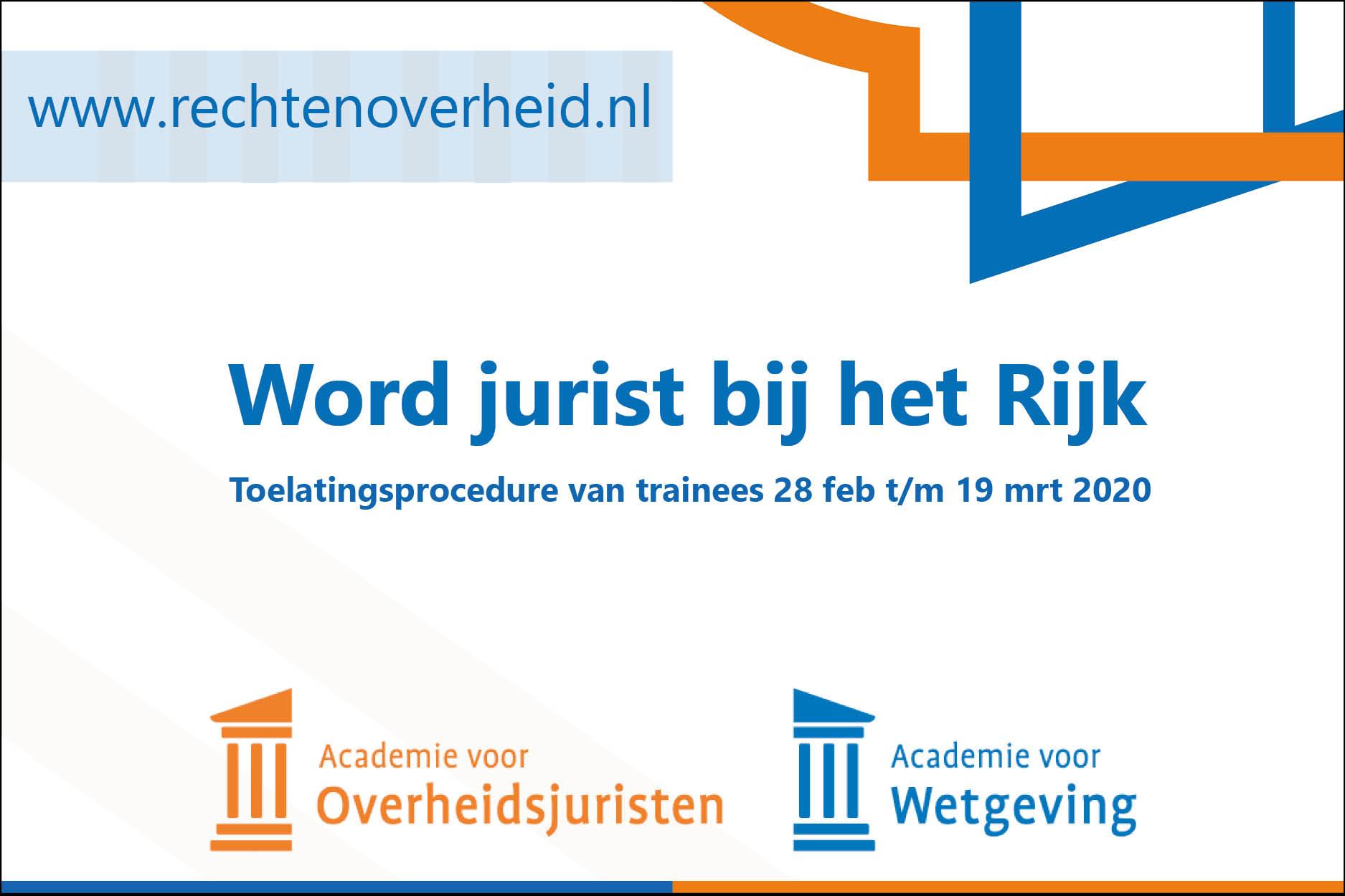 Banner Academie voor Overheidsjuristen / Wetgeving